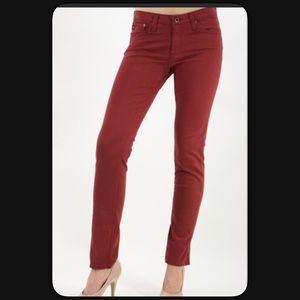 🆕AG Stilt Cigarette Leg Garnet Jeans